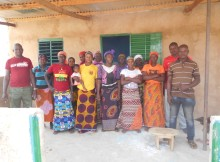CVD et Unité de Production du soumbala devant le nouveau local